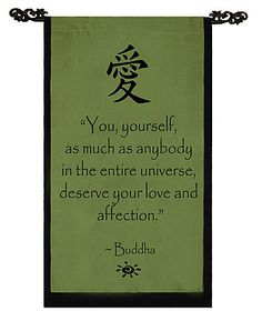 Inspirational Banner - Love & Affection Banner, Buddha