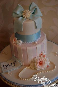 Vintage shabby chic birthday cake by bakerlou1, via Flickr
