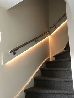 Stair Banister, Banisters, Stairs, Stair Lighting, Home Lighting, Villa, Home And Garden, Doors, Building
