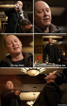 The Blacklist.. I love red's humor. he's the most awesome character on the show other than Tom.