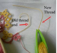 http://tatsaway.blogspot.com/2011/01/how-to-add-new-thread-without-tying.html  Note: nice method for adding thread without a knot. Have to try this...