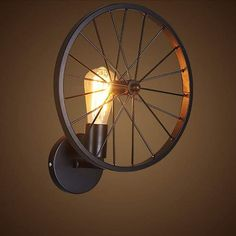 Retro Sconce Wall Light Led Modern Wall Lights Lamp Round for Bedroom Home Art Deco Bar Vintage Wall Light Fixtures Black Wall Light Fixtures, Wall Sconces, Wall Lamps, Vintage Wall Lights, Modern Wall Lights, Edison Lampe, Wall Lamp Shades, Bicycle Decor, China Lights