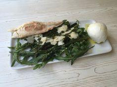 buffalo mozzarello with asparagus.