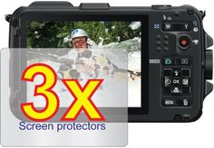3x Nikon Coolpix AW100 AW100s Digital Camera Premium Clear LCD Screen Protector Cover Guard Shield Film Kits (3 pieces)