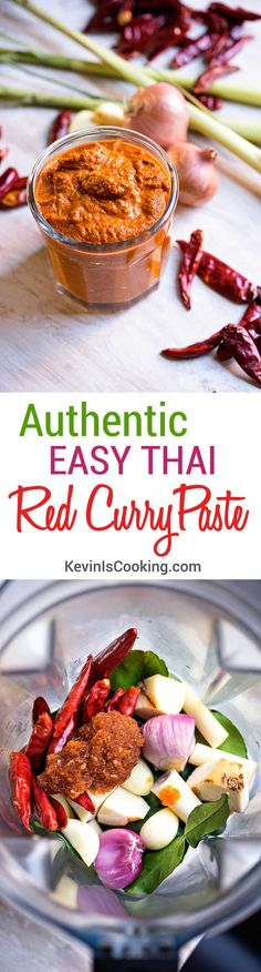 Looking for authentic Thai? This Easy Thai Red Curry Paste with only 7 ingredients delivers 1 massive amount of POW.keviniscookin… Source by Indian Food Recipes, Asian Recipes, Healthy Recipes, Thai Curry Recipes, Chutneys, Thai Cooking, Cooking Recipes, Comida India, Dips