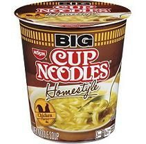 Nissin Big Cup Homestyle Noodles, Chicken (2.82 oz. cups, 6 ct.)