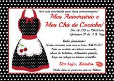 Retrô/ Vintage Bridal Shower. Convite feito por: As 4 Marias - www.facebook.com/as4marias