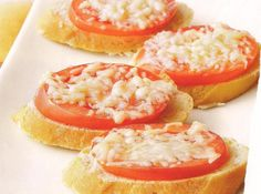 Cheesy Crostini (Weight Watchers)    points value of 2  Weight Watchers