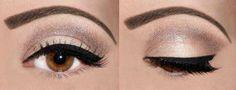 A clean eye makeup look.