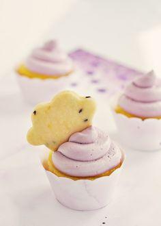 Lavender & Lemon Cloud Cupcakes