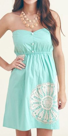 Mint Dress. Need to add straps to hold my large breasts.