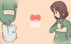 Asriel and chara :3