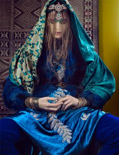 Luxurious Indian Inspired photoshoot in magazine French Revue De Modes