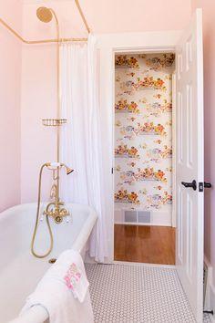 Before & After: All Hail The Pink Bathroom! | Design*Sponge