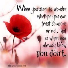 When you start to wonder.... #trustyourinstinct #nosecondguesses