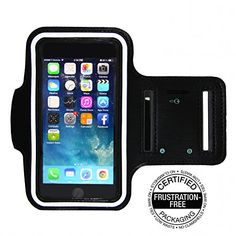 Best Running Armband for iPhone 6 Plus 5.5 inch & Samsung Galaxy Note 4 (Black)