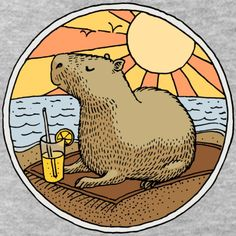 Moth Drawing, Capybara, Nature Illustration, Painted Rocks, Art Inspo, Cute Animals, Geek Stuff, Logo Design, Creatures