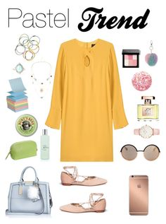 """""""Pastel look"""" by nathaliagoomes on Polyvore featuring Derek Lam, Stuart Weitzman, River Island, Mura, Marc by Marc Jacobs, CLUSE, RéVive, Hadaki, Burt's Bees and Jean Patou"""