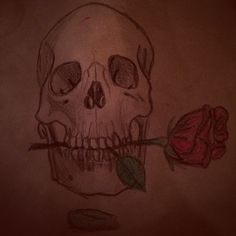 Skull & rose. By Koia Drayton