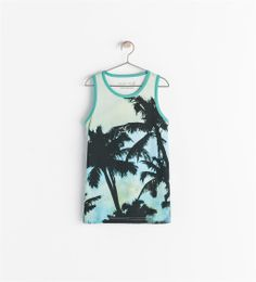 Image 1 of PALM TREE TANK TOP from Zara