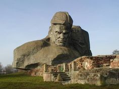 The Fortress of Brest The Fortress of Brest is the second largest war memorial in the Soviet Union. Located in the city of Brest, Be. Statues, Region Bretagne, Estonia Travel, Stone Mountain, Travel Info, Travel Ideas, Eastern Europe, Travel Around, France