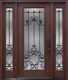 The Arbor Grove Collection fiberglass entry door features a variety of traditional door styles in oak, cherry or mahogany woodgrain textures.  www.clopaydoor.com