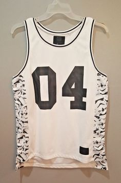 7176b9e8f8eb2c Star Wars Stormtrooper Basketball Jersey Tank Top On The Byas Shirt Size  Medium