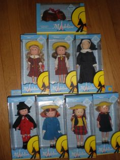 """MADELINE 8"""" DOLL NONA MISS CLAVEL DANIELLE CHLOE NICOLE PEPITO GENEVIEVE BNIB!! I had all of these dolls except I had a different Miss Clavel"""