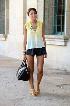 Storets Shirt, Mentirosas By Fernando Claro Shorts, Zara Sandals, Givenchy Bag, Mango Necklace