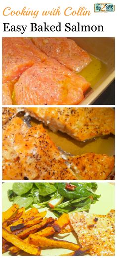 Even if you don't love salmon, give this easy baked salmon recipe a try - it's so yummy!! (Especially if you love salmon like me.) by Hip2Save (It's Not Your Grandma's Coupon Site!)