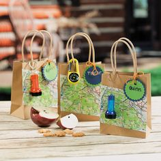 Camp Adventure Favor Bags - To take on a Scavenger Hunt OrientalTrading.com