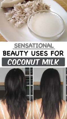 Check out these 3 sensational beauty uses for coconut milk! See how to use it to straighten your hair and more! Fashion And Beauty Tips, Diy Beauty, Health And Beauty, Beauty Hacks, Coconut Milk For Hair, Coconut Milk Uses, Cocunut Milk, Straight Hairstyles, Cool Hairstyles