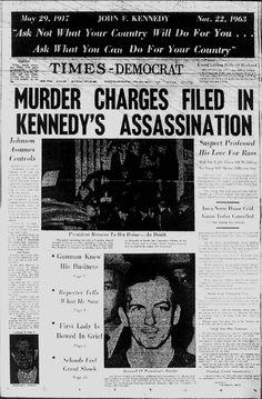 President John Kennedy is assassinated.