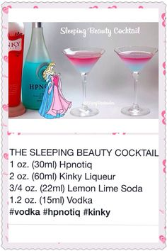 """Not sure I've seen this """"Kinky"""" liqueur here but sounds yummy Liquor Drinks, Cocktail Drinks, Beverages, Cocktail Recipes, Disney Cocktails, Disney Alcoholic Drinks, Alcholic Drinks, Alcohol Drink Recipes, Halloween Drinks"""