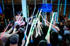 Light sabers, of course. @Graceology #LethalRhythms #AtlantaMitzvah #HighMuseum #AtlantaDJ #Events #BarMitzvah