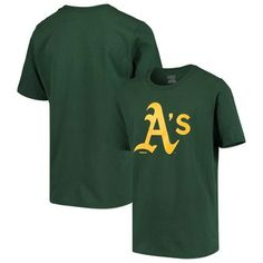 Outerstuff Youth Green Oakland Athletics Primary Team Logo T-Shirt Athletics Logo, Oakland Athletics, Chicago White Sox, Boston Red Sox, Baseball Pitching, Baseball Hat, Mlb Merchandise, Buster Posey, Tampa Bay Rays