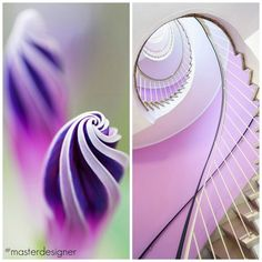 "Master Designer Series by @FieldstoneHill The audacious creations of God alongside the audacious creations of man. ""The Purple Spiral"""