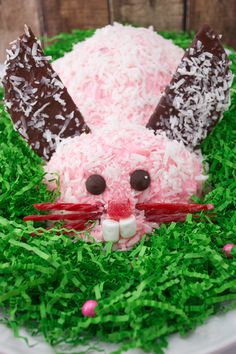 Easter Bunny Cake ~ This cake is adorable and so easy to make! You will be surprised!