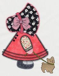 Accuquilt Go! Sunbonnet Sue Applique - 6x10   Quilt   Machine Embroidery Designs   SWAKembroidery.com VStitchDesigns