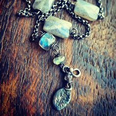 Chunky Labradorite & Sterling Path Necklace, crafted for a special occasion in Idaho