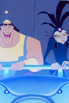 Yzma and kronk - the emperor's new groove - disney wallpaper