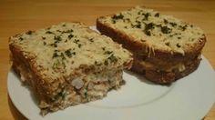 croque nordique : saumon, crevettes, crème, emmental, persil