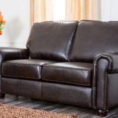 CH-1918-BRN-2 - Bellagio Leather Loveseat