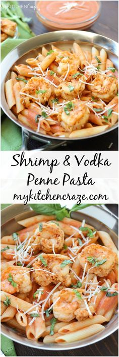 Shrimp & Vodka Penne Pasta ~ mykitchencraze.com ~ Succulent shrimp tossed with a decadent vodka penne pasta. All made within 30 minutes. Yum!