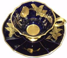 Echt Cobalt Golden Linder BAVARIA Tea cup and saucer