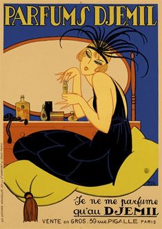 Parfums Djemil 1925 France - Beautiful Vintage Poster ...