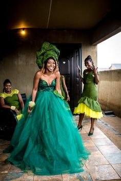 Bontle bride is a wedding magazine featuring weddings, tips, ideas and advice. African Prom Dresses, African Fashion Dresses, African Dress, African Wedding Attire, African Attire, South African Traditional Dresses, Sotho Traditional Dresses, Traditional Wedding Attire, Outfits