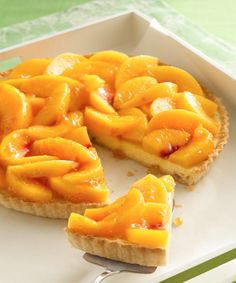 Creamy amaretto filling topped with juicy, sweet peaches make this irresistible tart one of summer's must-make desserts. Fresh peaches not in season? One bag (16 ounces) frozen sliced peaches without syrup, thawed and well drained, can be substituted.