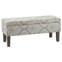 Ikat Pattern Storage Bench with Wood Legs Motif Ikat, Ikat Pattern, Living Room Bench, Living Room Furniture, Furniture Decor, Modern Furniture, Stylish Home Decor, Ottoman Bench, Window Coverings