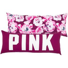 PINK Body Pillow (170 SAR) ❤ liked on Polyvore featuring home, bed & bath, bedding, bed pillows, floral, pink body pillow and pink bed pillows